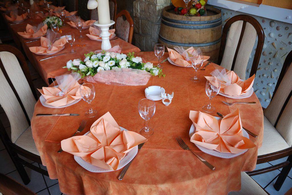 Gedeckter Tisch im Restaurant Tio Pepe